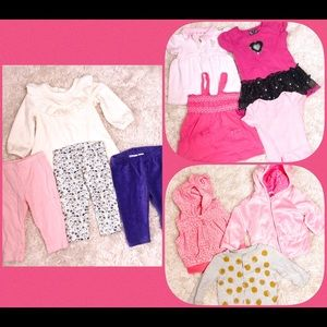 6 MO 11 PIECE Bundle Baby Girl lot